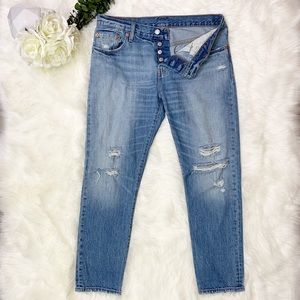 Levi's 501 CT Button Fly Distressed Jeans